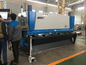 Hydraulic guillotine machine MS8-8×3200 with sheet support system