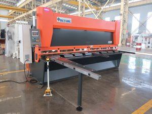 QC11y K-4X2500 sheet metal steel hydraulic guillotine shearing machine for iron aluminum cutting