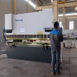 жылжымалы WC67Y гидравликалық металдан жасалған пресс тежегіші, алюминий профиліне арналған иілу машинасы