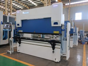 press brake with quick clamps